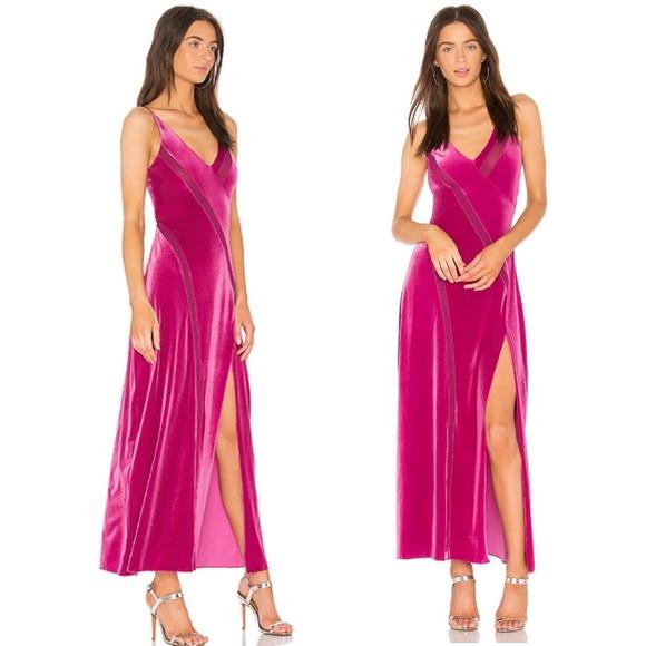 86c27e4d9de2 Free People Dresses   Nwt Spliced Velvet Maxi Dress Pink   Poshmark